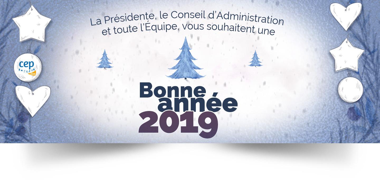 Le CEP vous souhaite une bonne année 2019