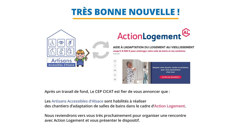 Artisans Accessibles d'Alsace et Action logement 2020